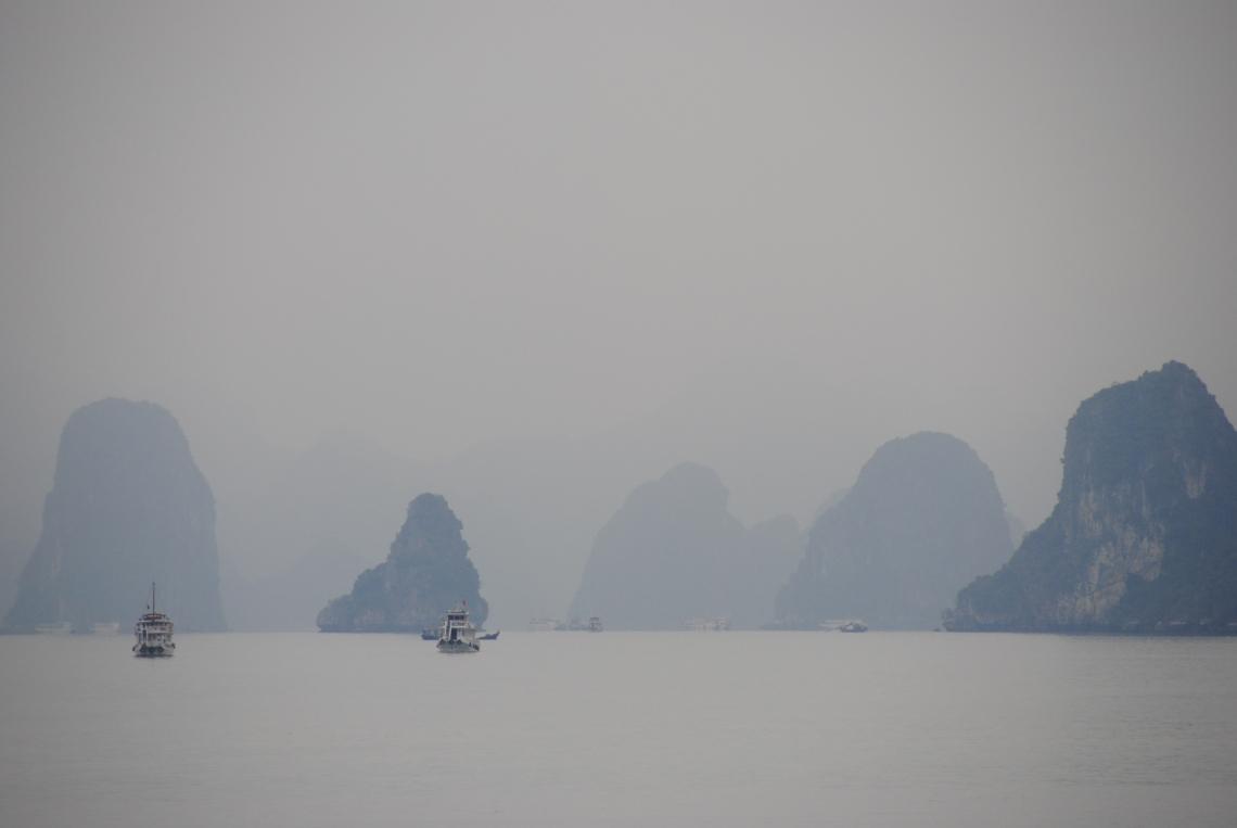 soil and thread Halong Bay Vietnam
